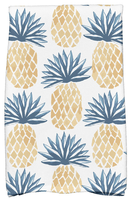 16 X25 Pineapple Stripes Geometric Print Kitchen Towel Tropical Dish Towels By E By Design Houzz