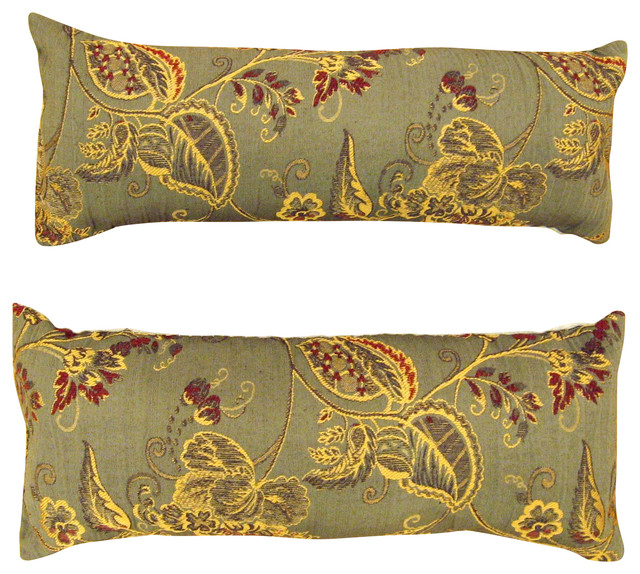 Matching Consigned Vintage Decorative GoldLeaf Brocade Pillows Set Stunning Victorian Pillows Decorative