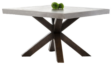Square Dining Table modrest urban concrete square dining table - transitional - dining