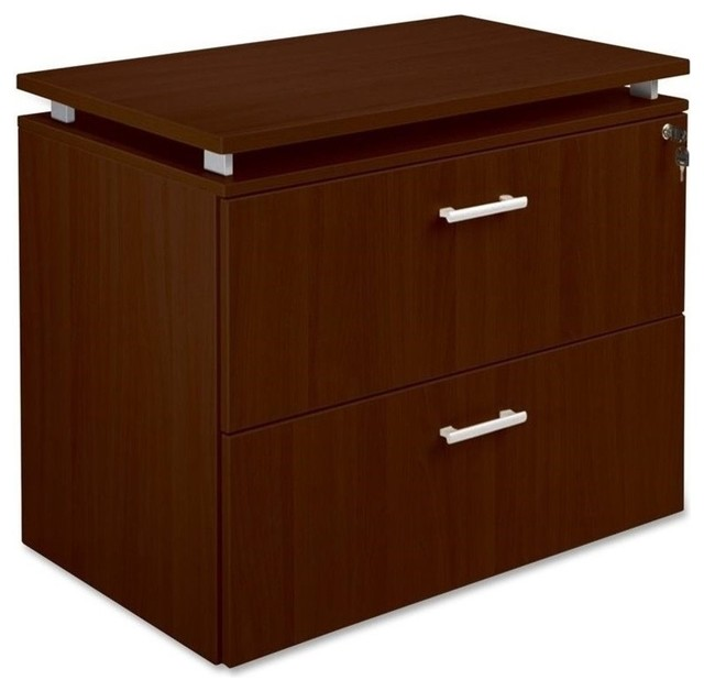Lorell Concordia Series Mahogany Lateral File - Transitional - Filing Cabinets - by Homesquare