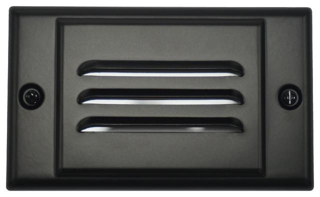 LED Step Light, Black, Horizontal