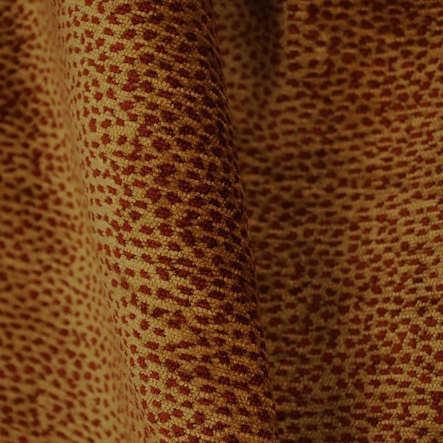 The Fabric Co Siamese 1788 Deep Red Cheetah Print Fabric