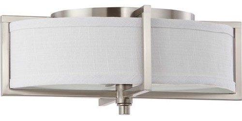 Nuvo Lighting 60/4468 Portia 2 Light Flush Mount Ceiling Fixture.