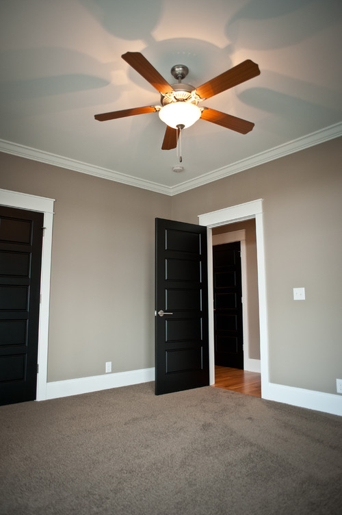 Brand-new Love the dark doors painted trim. Are your windows painted or stained? VR58