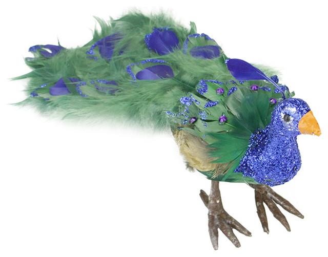 Northlight seasonal colorful regal peacock bird with