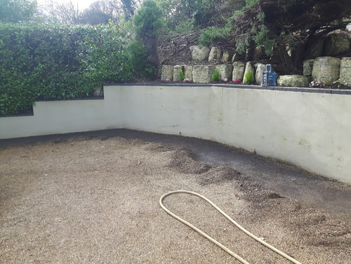 Damp Patches Can Be Seen And Mold Showing We Scraped The Gravel Back