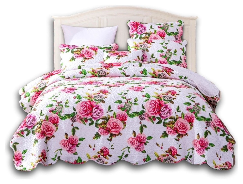 """18/"""" DaDa Bedding Set of 2 Romantic Roses Spring Floral Pink Throw Pillow Covers"""