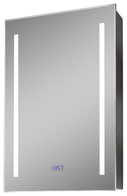 K381 Color Change Led Cabinet With Digital Clock, Shaver Socket And Demister.