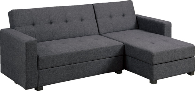 Adjustable Sectional Sofa Bed Chaise Set With Storage