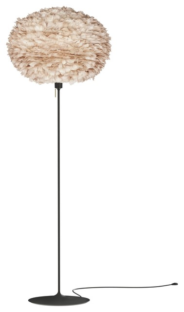 Eos Large Floor Lamp, Light Brown/black.