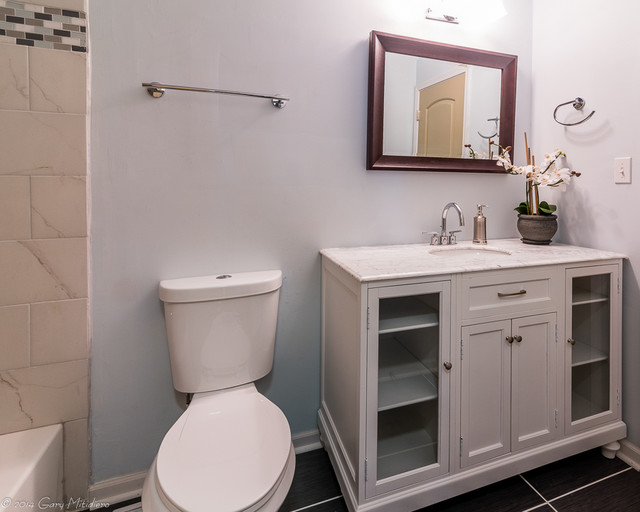 Example of a trendy home design design in Chicago