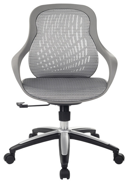 modrest claudia modern grey office chair - contemporary - office