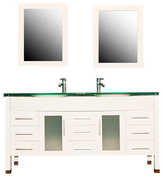 Cambridge 63-inch White Wood and Gl Double Sink Vanity Set ... on double sink bathroom floor plans, double sink vanity with makeup area, 48 double sink vanity, double sink bathroom designs, double sink plumbing, double sink dresser, double sink vanity set, double vanity sinks and countertops, small double sink vanity, double sink bathroom renovation, double sink wet bar, glass bowl sinks and vanity, double sink bathroom mirrors, double sink granite, double sink glass vanity, diy double sink vanity, double sink vanity top, double sink bathroom decorating ideas, double sink bathroom furniture, double bathroom sink tops,