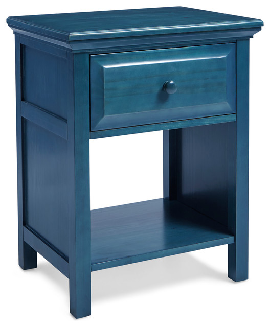 Charmant Mantua Cottage Style Nightstand, Wedgewood Blue
