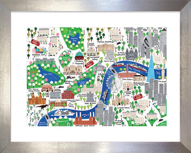 London City Map Printable.London City Map Print Framed 45x35 Cm