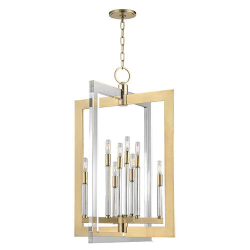 Affordable Foyer Lighting : Chrome brass foyer pendant light