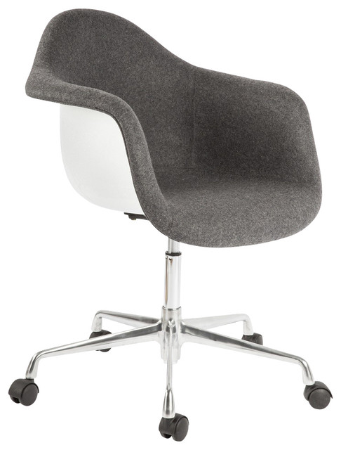 Stilnovo Midcentury Eiffel Office Arm Chair Office Chairs By - Grey office chair