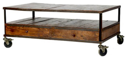 French Industrial Coffee Table    Wisteria