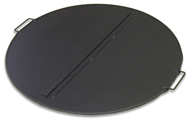 Folding Fire Pit Snuffer Cover Round 44