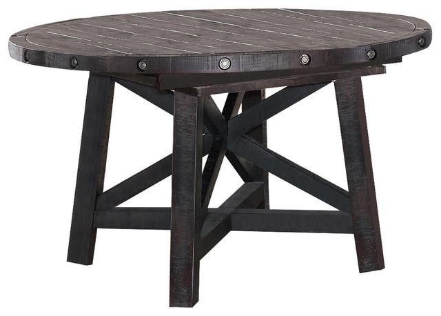 Attirant Yosemite Solid Wood Round Extension Table