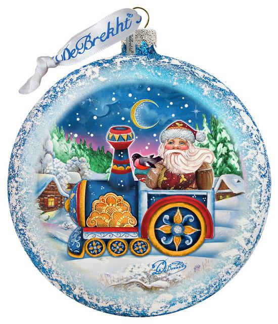 Train Ride Ornament Contemporary Christmas Ornaments By G Debrekht Houzz