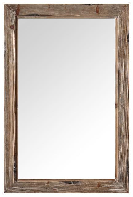 "Legion Furniture Mirror, Rustic Brown, 24""."