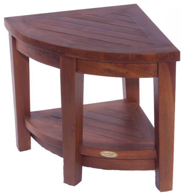 Classic Teak Corner Spa Shower Chair contemporary shower benches and seats. DecoTeak Classic Teak Corner Spa Shower Chair   Shower Benches
