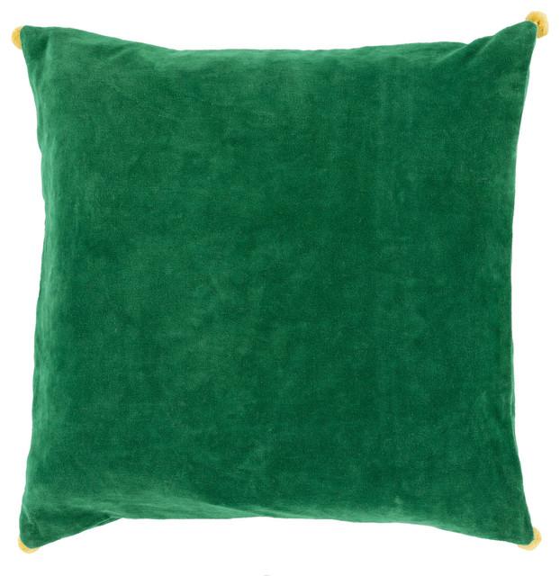 Cotton Velvet Decorative Pillows : Square Cotton Velvet Pillow VP-006 - Contemporary - Decorative Pillows - by zopalo