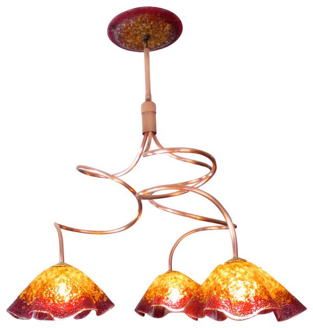 Blown glass chandelier art glass lighting chandelier lighting blown glass chandelier art glass lighting chandelier lighting copper aloadofball Image collections