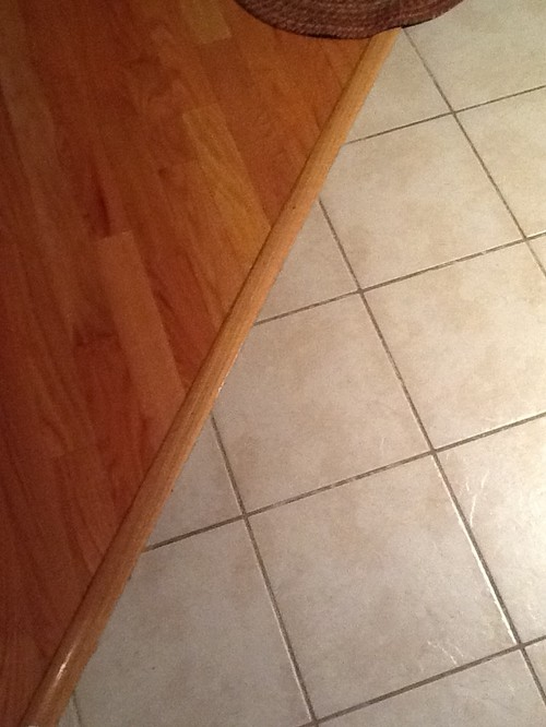 Need new Kitchen floor that abuts red oak hardwood.