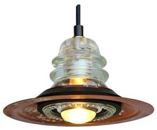 Metal pendant lighting houzz railroadware insulator metal hood pendant light pendant lighting mozeypictures Choice Image