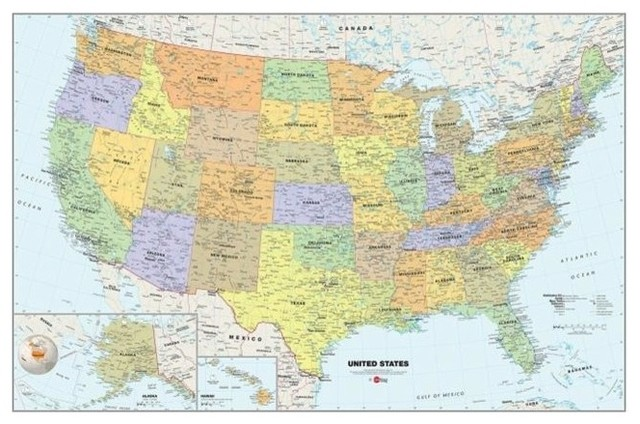 e3df4cdeb0 ... Wall Decor · Wall Decals. WallPops WPE99073 Peel and Stick USA  Dry-Erase Map With Marker