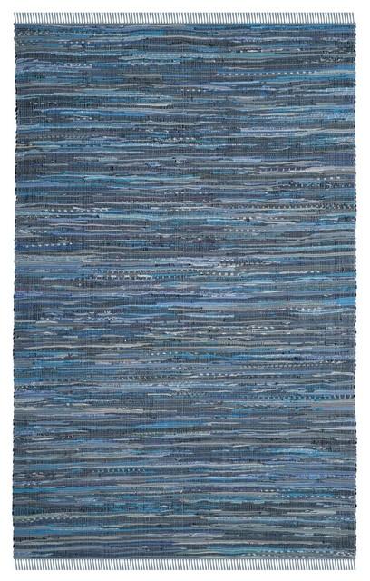 Safavieh Rag Rug Cotton 25 Rar127b 2 3 X5 Blue Mutli