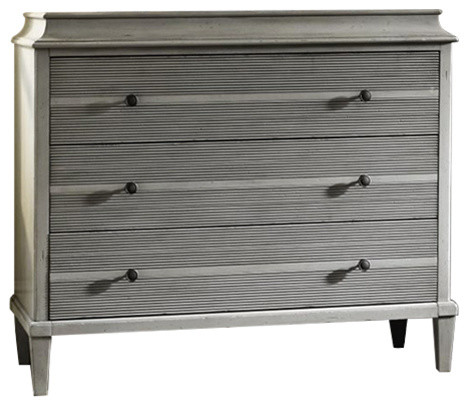 Sojourn French Country 3 Drawer Hallway Chest, Gray