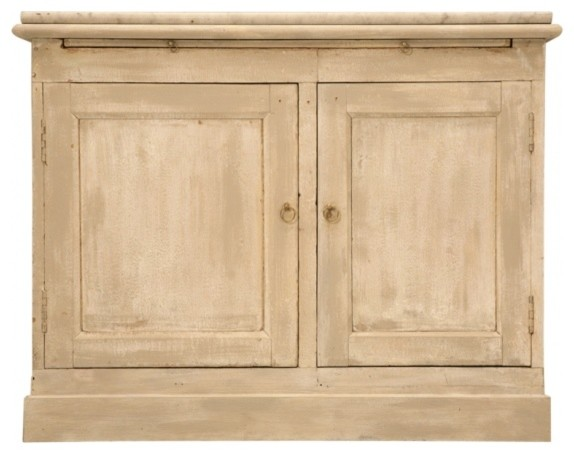 Antique French Two Door Pastry Counter With Marble.