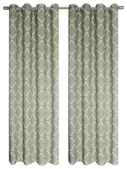 Celine Curtain Panel 2-Pack - Transitional - Curtains - by Kashi Home
