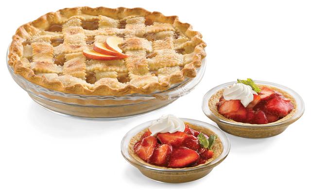 Baker&x27;s Basics 6-Piece Glass Pie Set.