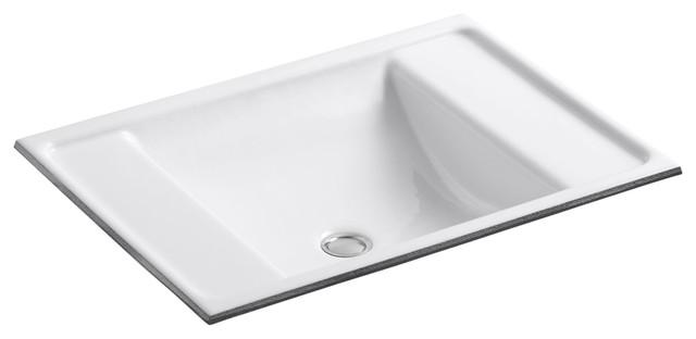 Kohler Ledges Under-Mount Bathroom Sink, White.