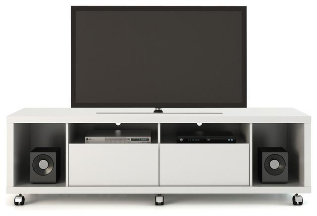 Manhattan Comfort Cabrini Tv Stand 1.8, White Gloss.