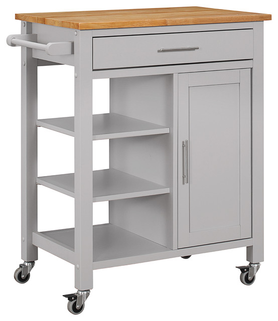 Kitchen Lighting Edmonton: 4D Concepts Edmonton Kitchen Cart, Black