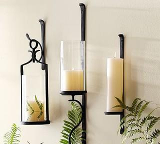 Artisanal Wall Mount Pillar Lantern Traditional