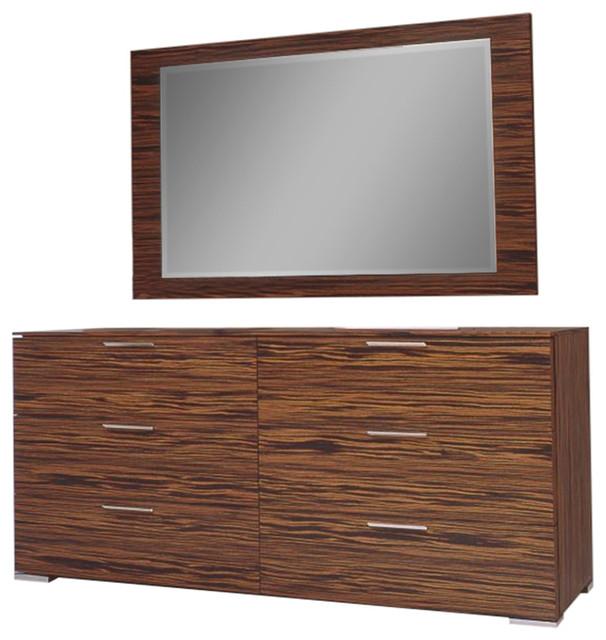 Webb Furniture Dresser With Mirror: Webb Double Dresser And Mirror Set