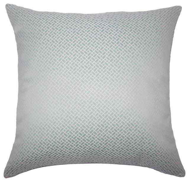 Pertessa Geometric Bedding Sham Aqua Euro Sham 26 X26