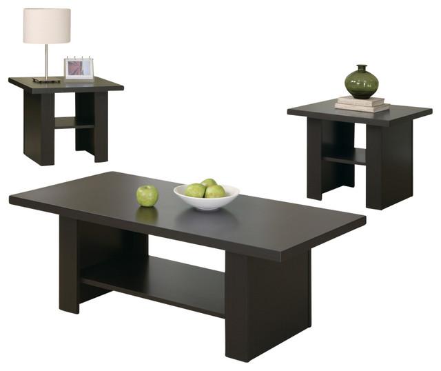 Table Set, 3 Piece Set, Cappuccino