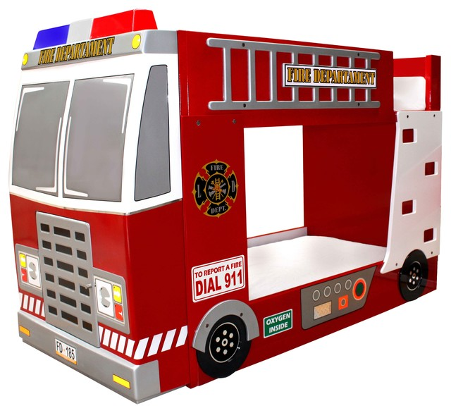Fire truck bunk bed contemporary kids beds by polart ayc internacional dba polart - Fireman bunk bed ...