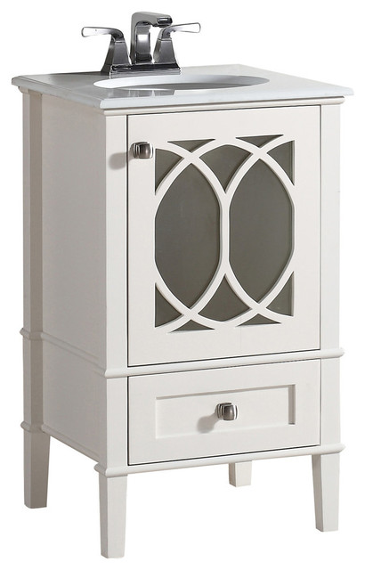adeliza vanity with white quartz marble top - transitional 20 Bathroom Vanity