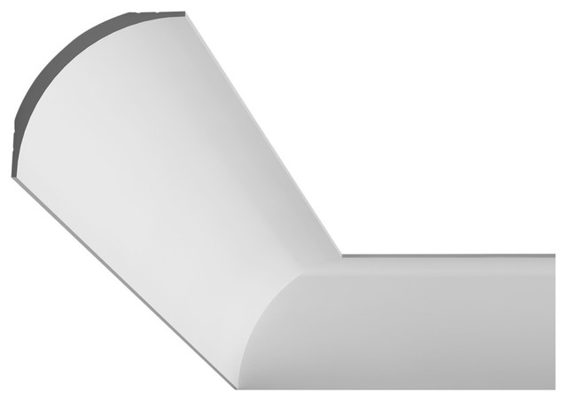 Orac Decor Plain Duropolymer Crown Moulding Face 4 3 Contemporary Molding And Trim By American Pro