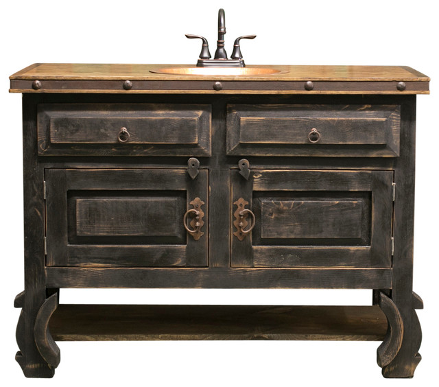 Valencia Rustic Bathroom Vanity Farmhouse Bathroom Vanities And Sink Consoles By Foxden Decor Houzz