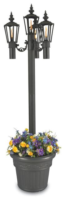 Islander - Citronella Four Flame Planter Lantern - Park Style.