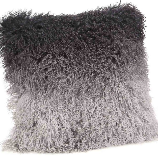 Lamb Fur Pillow - Contemporary - Decorative Pillows - by World Modern Design